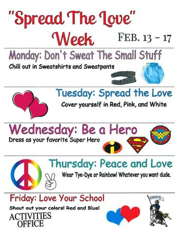Spread Love week Feb. 13-17