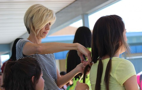 Chargers donate hair to Locks of Love