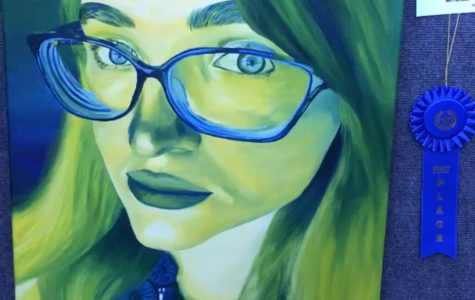 Riley Barry takes first place in art competition