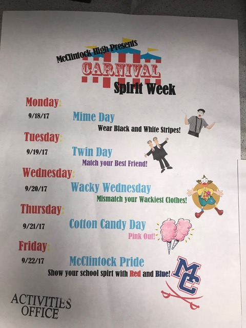 Homecoming+Spirit+week+days+announced.