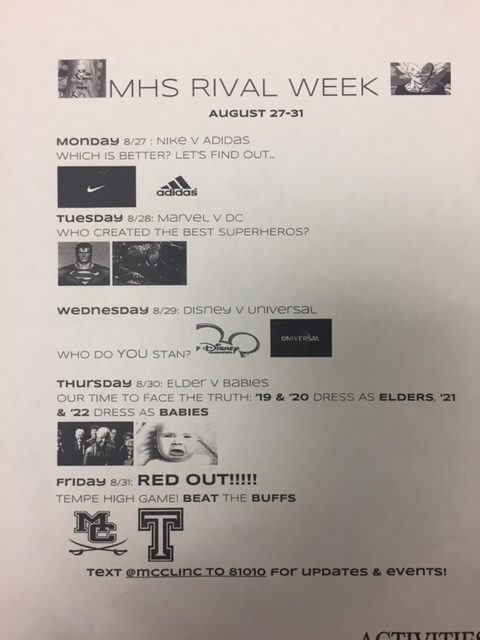 Spirit week prepares students for Tempe High Rivalry