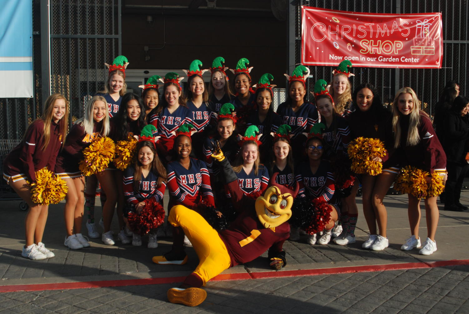 McClintock Varsity Cheer volunteered with Tempe Police in an annual event known as