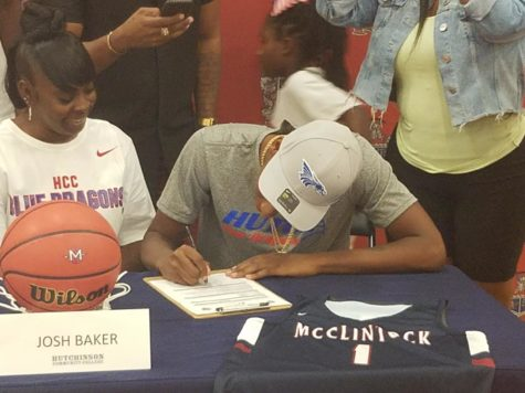 Charger Hoops' Josh Baker signs National Letter of Intent