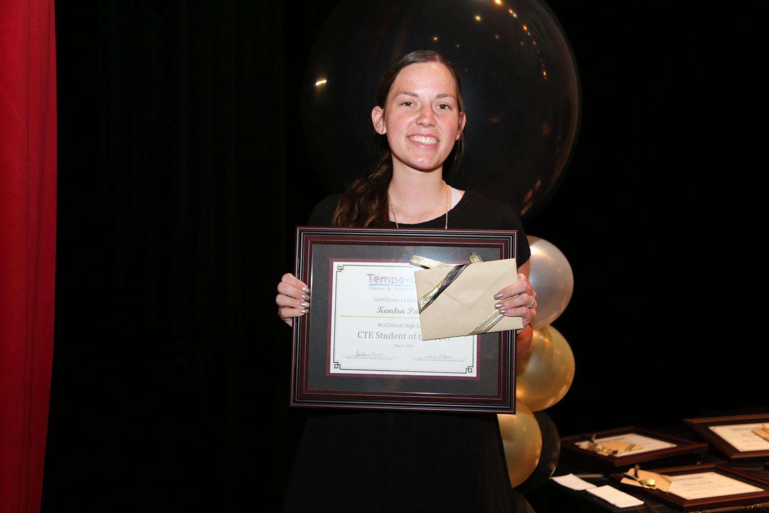 Kendra Parker was named the McClintock High School 2019 Student of the Year.