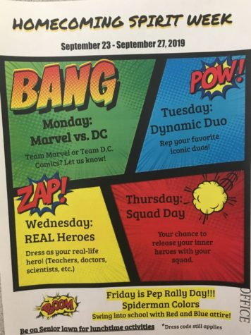 McClintock Homecoming: Spirit Days announced for Spiderman Themed dance