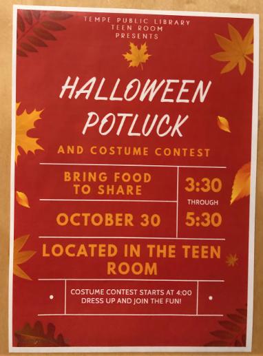 Teen Potluck held for Halloween