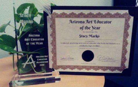 Marko recognized as AZ Art Teacher of the Year