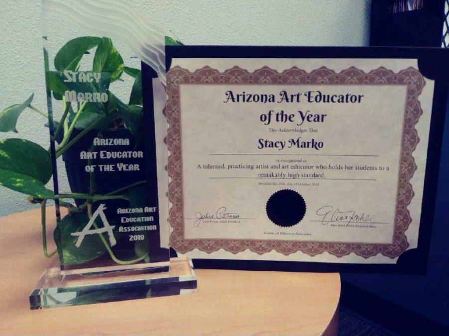 Marko+recognized+as+AZ+Art+Teacher+of+the+Year