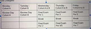 Final Exam schedule released
